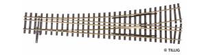 Tříkolejnicová výhybka úzkorozchodné tratě, levá, H0/H0m, Tillig 85198