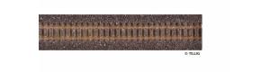 Kolejové lože pro úzkorozchodnou flexi kolej, hnědé, délka 700 mm, H0m, Tillig 86701