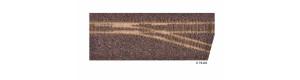 Kolejové lože pro pravou úzkorozchodnou odbočku, hnědé, H0/H0m, Tillig 86731