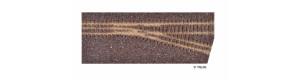 Kolejové lože pro pravou úzkorozchodnou odbočku, hnědé, H0/H0e, Tillig 86733