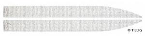 Povrch komunikace k odbočce, s dlažbou, levá/pravá, tramvajové kolejivo Luna, TT/H0m, Tillig 87411
