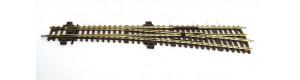 Štíhlá výhybka, pravá, WL10, TT, Kuehn 72641