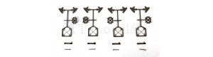 Stavebnice čtyř zarážedel v šedé barvě, TT, Tillig 83441