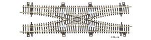 Dvojitá kolejová spojka, kovová srdcovka, TT, Tillig 83211
