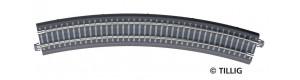 Oblouková kolej s podložím BR 31, R 396 mm/30 st., šedé pražce, TT, Tillig 83770