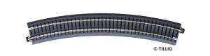 Oblouková kolej s podložím BR 31, R 396 mm/30 st., hnědé pražce, TT, Tillig 83780
