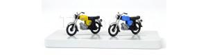 Motocykl Simson S50, 2 kusy, žlutý a modrý, TT, Kres 11150