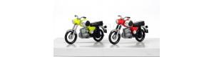 Motocykl MZ TS 250, 2 kusy, žlutý a červený, TT, Kres 11261