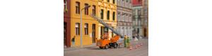 Stavebnice vozu Multicar M22 s výsuvným žebříkem, oranžová, H0, Auhagen 41656