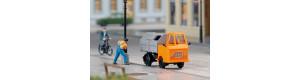 Stavebnice nákladního automobilu Multicar M22 s kontejnerem na odpad, TT, Auhagen 43671
