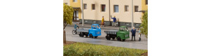 Stavebnice dvou nákladních automobilů Multicar M22, valník a sklápěč, N, Auhagen 44656