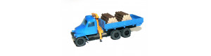 Praga V3S s mechanickou rukou a nákladem dřeva, hotový model, TT, Pavlas APH 13a