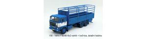Stavebnice - Volvo F88/89 6x2, valník bez plachty+bočnice, detailní kabina, TT, Štěpnička 150d
