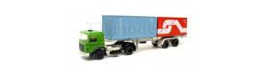 Nákladní auto Raba s kontejnerovým návěsem a dvěma kontejnery, TT, DOPRODEJ, Tillig 08716