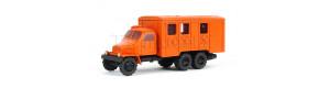 Nákladní auto Praga V3S skříňová, barva oranžová, hotový model, TT, Pavlas APH05d