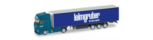 "Tahač Mercedes-Benz Actros, kamion s návěsem ""Leimgruber"", N, Herpa 066785"