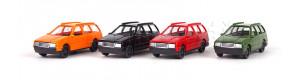 Sada osobních automobilů, 4 kusy, různé barvy, TT, Auhagen 43651
