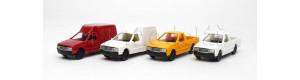 Sada čtyř užitkových automobilů, 4 kusy, TT, Auhagen 43660
