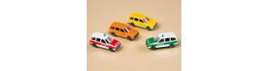 Sada osobních automobilů, 4 kusy, s potiskem, TT, Auhagen 43652