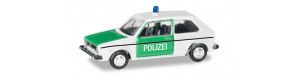 Osobní auto Volkswagen Golf 1, policie, TT, Herpa 066655