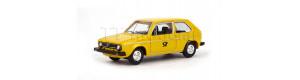 Osobní auto Volkswagen Golf 1, žlutá barva, Post, TT, Herpa 066761