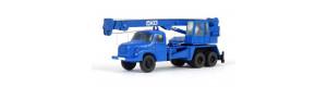 Autojeřáb Tatra T 148 AD 20, modrá, hotový model, TT, Pavlas APH40e