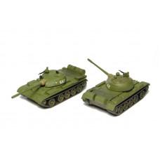 Stavebnice středního tanku T-54B/T-55A, 2 kusy, TT, SDV 12101
