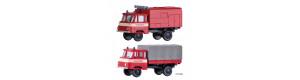 Set dvou hasičských automobilů Robur, TT, model Galerie Tillig 2022, Tillig 502180