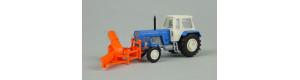 Traktor FORTSCHRITT se sněhovou frézou, TT, Busch 8697