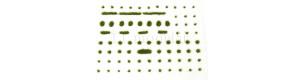 Travní drny, střední, varianta D2, zelená travní, Polák 4132