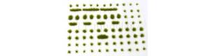 Travní drny, střední, varianta D6, zelená a hnědá, Polák 4136