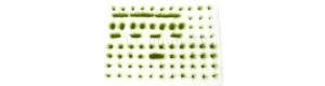 Travní drny, dlouhé, 6 + 8 mm, zelená mechová, Polák 4151