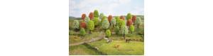 Listnaté stromy jarní, 25 kusů, 5 až 9 cm, Noch 26806