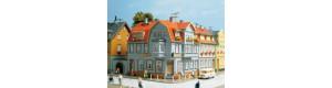 Rohový dům s hospodou, H0/TT, Auhagen 12249