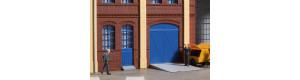 Vrata a dveře modré, schody, rampy, H0, Auhagen 80255