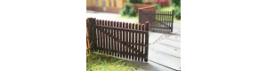 Dřevěná vrata dvoukřídlá k plotu 2m, 2 kusy, H0, ES Pečky 23428