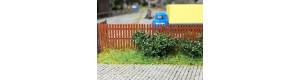 Plaňkový plot o výšce 2 m, kulaté konce, 5 kusů, H0, ES Pečky 23423
