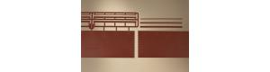Cihlové stěny s věnci, 3 kusy, TT, Auhagen 43658