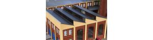 Střecha se žlutými cihlovými štíty, H0, Auhagen 80309