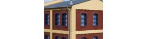 Cihlové rohové sloupy, žluté, 8 kusů, H0, Auhagen 80415