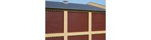 Cihlové sloupy a reliéfy, žluté, H0, Auhagen 80417