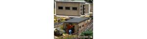 Stavebnice dřevěné remízy polní drážky, H0f, Busch 12380