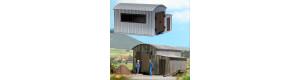 Stavebnice plechové remízy polní drážky, H0f, Busch 12382