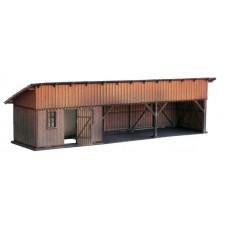 KkStB dřevěná kůlna nádražní, 48/H, bobrovka, TT, KB model 4055BB