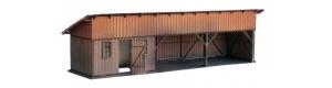 KkStB dřevěná kůlna nádražní, 48/H, krytina asfaltový pás, TT, KB model 4055AF