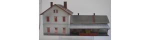 Výpravní budova 253/H Malá Morávka, eternit, H0, KB model 5029ET