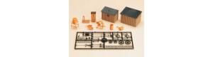 Kadibudka, kůlny, nářadí, doplňky, H0/TT, Auhagen 42571