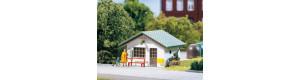Přístřešky pro autobusové zastávky, 2 kusy, H0/TT, Auhagen 12262