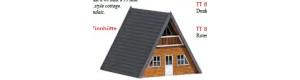 Stavebnice, chatka, světlé dřevo, TT, Busch 8836