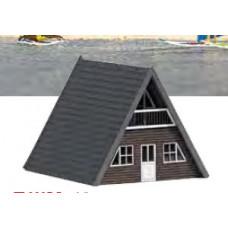 Stavebnice, chatka, tmavé dřevo, TT, Busch 8837